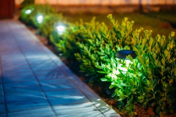 Landscape Lighting in Krum Texas by Echo Electrical Services, Inc.